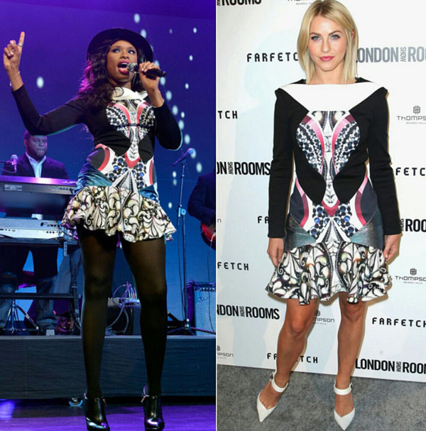Jennifer Hudson vs Julianne Hough Peter Pilotto Caio Printed Dress Hviezdne vojny