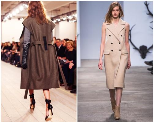 khf Štýlová zima 2013: Kabát bez rukávov