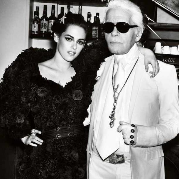 Kristen Stewart Karl Lagerfeld 610x610 Kristen Stewart si zahrá kovbojku v štýle Chanel