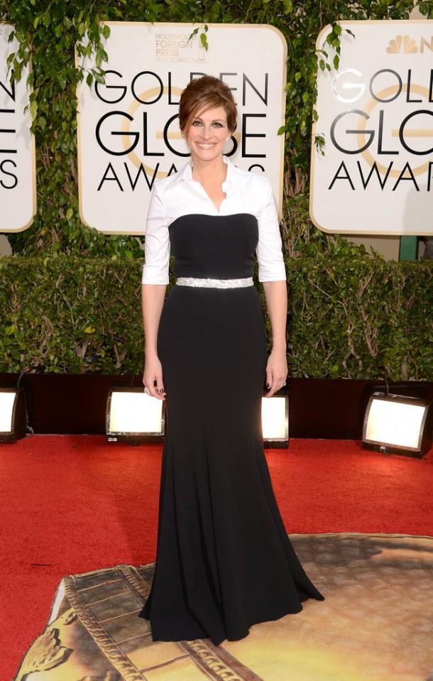 Julia Roberts Golden Globes 2014 610x959 Najlepšie a najhoršie outfity týždňa