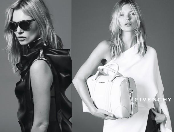 Kate Moss Givenchy Spring Summer 2013 Ad campaign 610x466 Najlepšie kampane Kate Moss