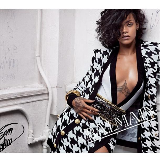 RIHANNA BALMAIN spring 2014 campaign 3 610x610 Kampane 2014: Rihanna, Miley Cyrus, Nicole Kidman,...