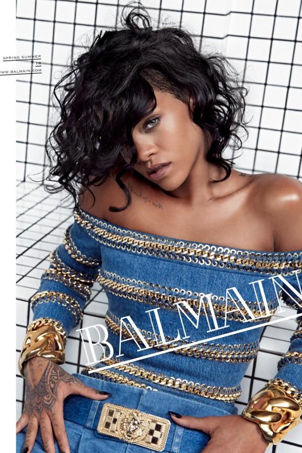 rihanna inez vinoodh balmain 2014 2 610x914 Kampane 2014: Rihanna, Miley Cyrus, Nicole Kidman,...