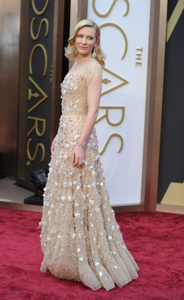 Cate Blanchett Oscars 2014 610x997 Najlepšie a najhoršie outfity týždňa /Oscary 2014/
