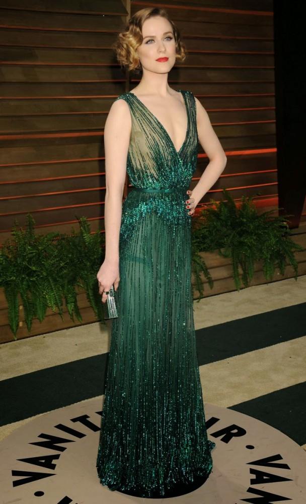 Evan Rachel Wood Oscars 2014 Vanity Fair Party3 608x1000 Najlepšie a najhoršie outfity týždňa /Oscary 2014/