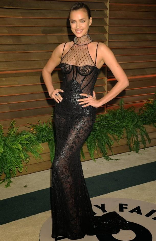 Irina Shayk Oscar 2014 Vanity Fair Party 01 610x939 Najlepšie a najhoršie outfity týždňa /Oscary 2014/
