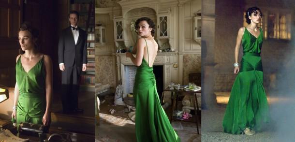 atonement green dress 610x294 Inšpirujúce módne filmy