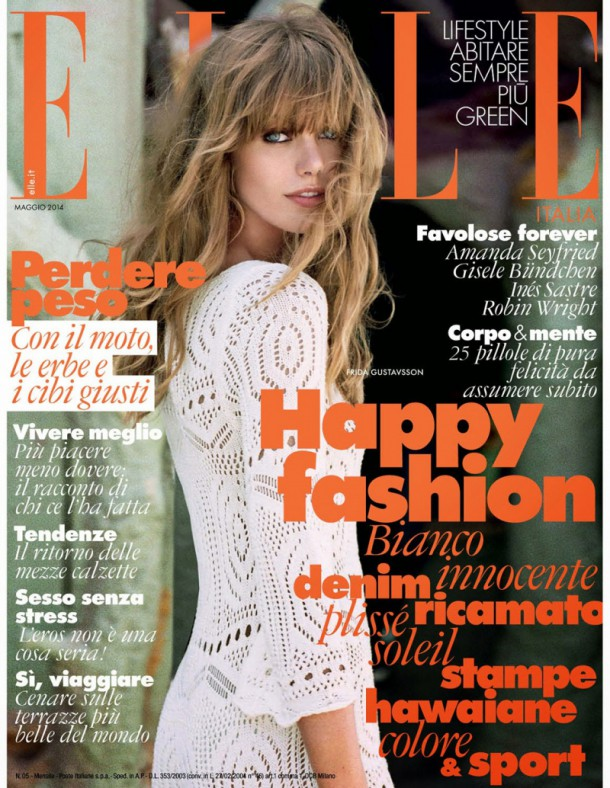 Elle Italy Cover May 2014 Frida Gustavsson by 009415 610x788 Na titulke: Máj 2014