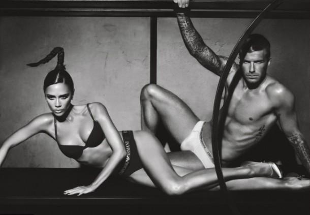 david victoria beckham armani underwear ad campaign large 610x423 Victoria Beckham: Od Posh Spice k móde