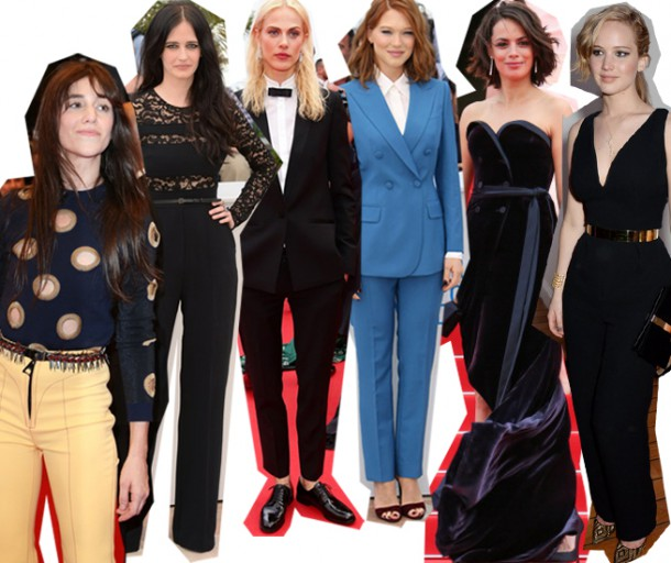 CANNES SUITS 610x512 Desať trendov na festivale v Cannes