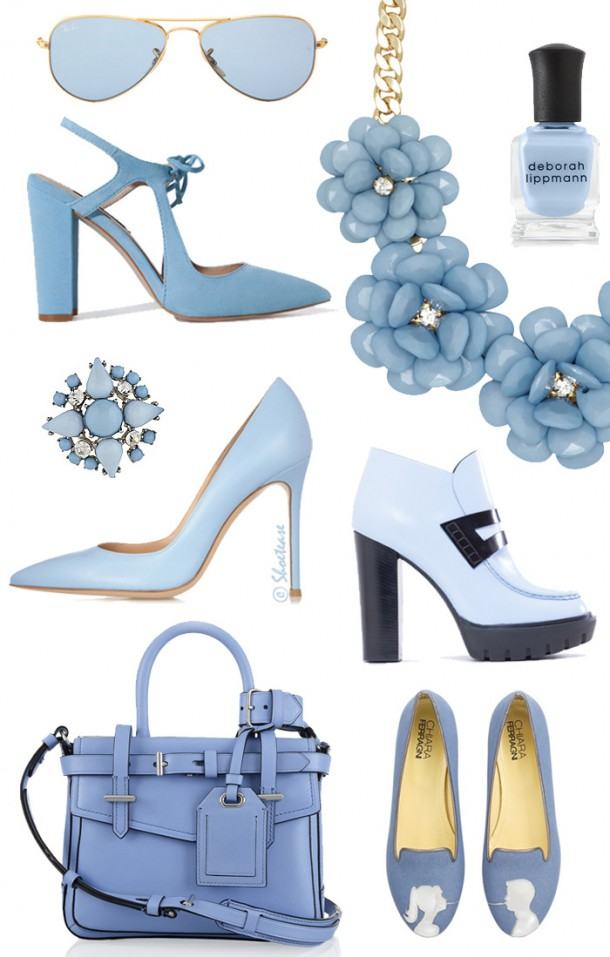 Spring 2014 Powder Blue Fashion Trend in Shoes and Accessories 610x957 Hit sezóny jar/leto 2014   púdrová modrá