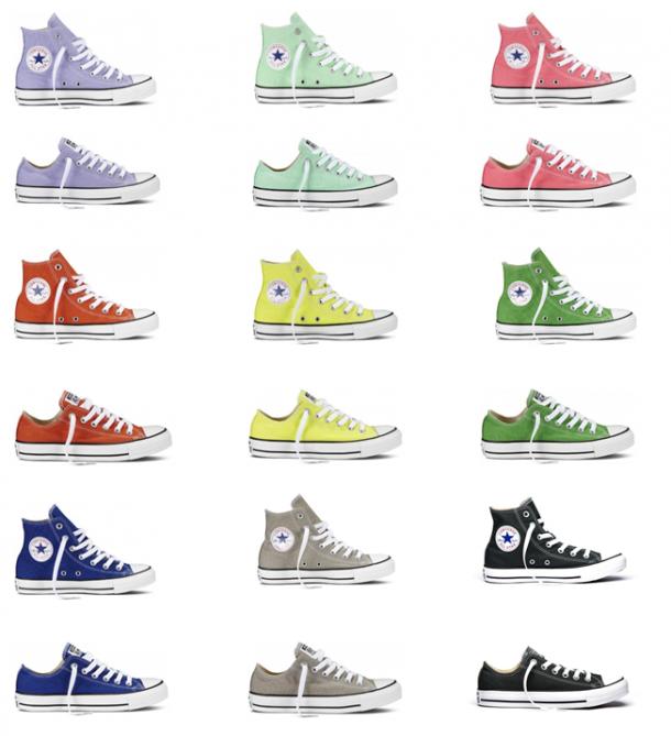 image 610x669 STAJL tip: štýlové tenisky Converse v žiarivých farbách na leto