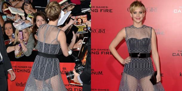 Jennifer Lawrence Catching Fire LA Premiere 610x305 Nahota na červenom koberci