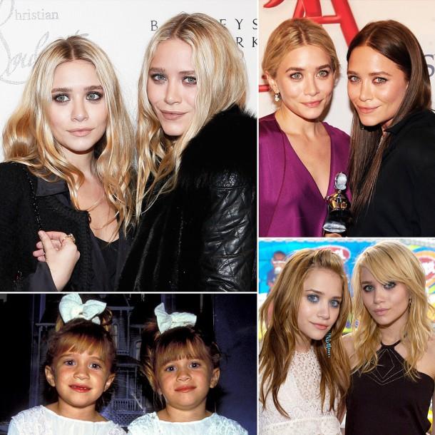 Mary Kate Ashley Olsen Hair 610x610 FASHION ICON: Mary Kate a Ashley Olsen