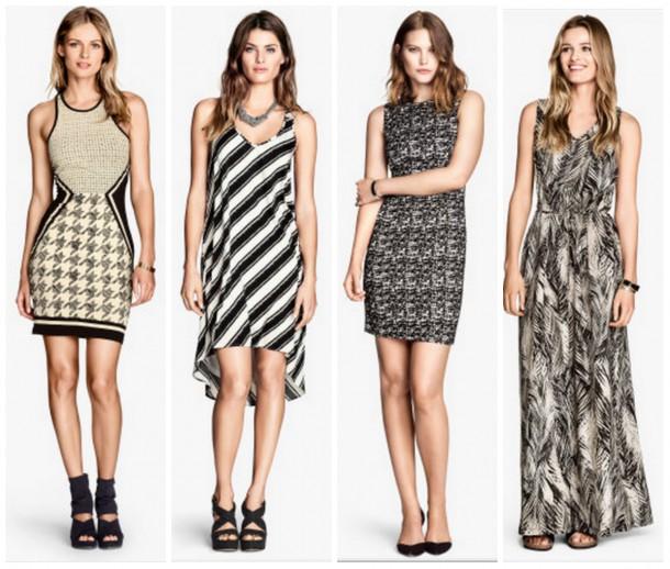 collage13 610x518 Trendy na leto 2014: čiernobiela (časť 1.)