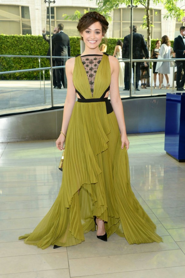 emmy rossum mendel dress 2014 cfda fashion awards 02 610x917 CFDA Fashion Awards 2014