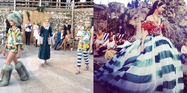 Dolce 610x305 Dolce & Gabbana: Haute Couture na slnečnom ostrove Capri