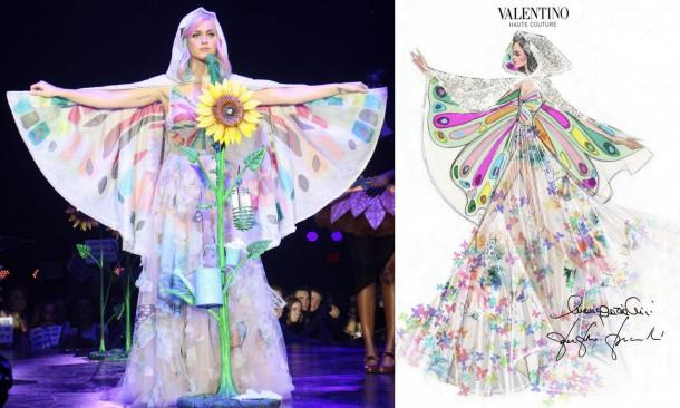 Katy Perry Valentino Couture Prismatic World Tour e1399557377476 610x366 Turné Katy Perry je prezentáciou dizajnérskych kostýmov