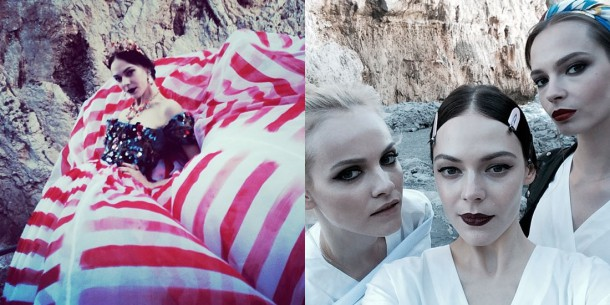 Kinga Rajzak 610x305 Dolce & Gabbana: Haute Couture na slnečnom ostrove Capri