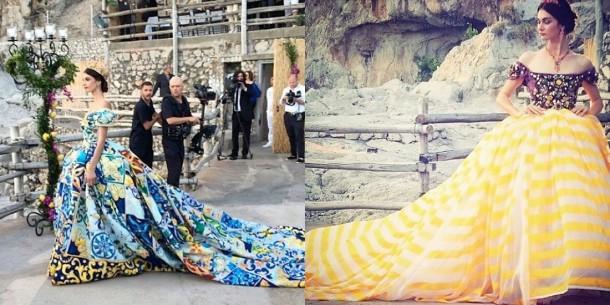 alta moda 2 610x305 Dolce & Gabbana: Haute Couture na slnečnom ostrove Capri