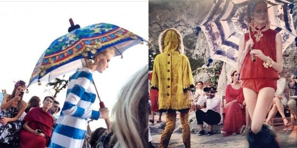 alta moda 610x305 Dolce & Gabbana: Haute Couture na slnečnom ostrove Capri