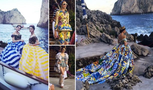 dolce and gabbana alta moda capri fw 2014 2015 cover 610x358 Dolce & Gabbana: Haute Couture na slnečnom ostrove Capri