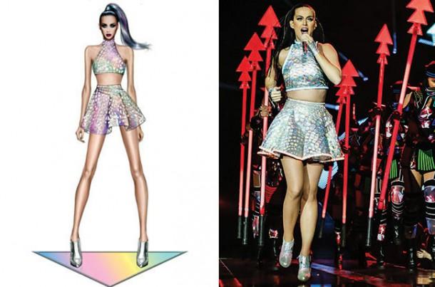 robert cavalli katy perry tour wardrobe split billboard 650 610x403 Turné Katy Perry je prezentáciou dizajnérskych kostýmov