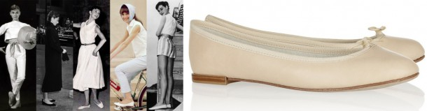 Audrey ballet 610x159 Päť klasických Audrey Hepburn kúskov, ktoré váš šatník potrebuje