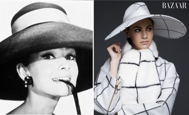 audrey hepburn 2 610x373 Módny debut vnučky Audrey Hepburn