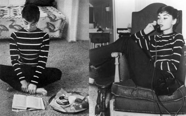 audrey hepburn stripes 610x380 Päť klasických Audrey Hepburn kúskov, ktoré váš šatník potrebuje