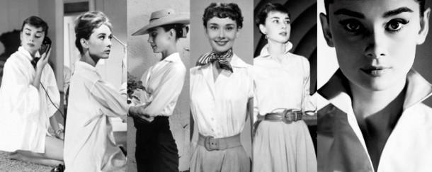 audrey shirt 610x243 Päť klasických Audrey Hepburn kúskov, ktoré váš šatník potrebuje