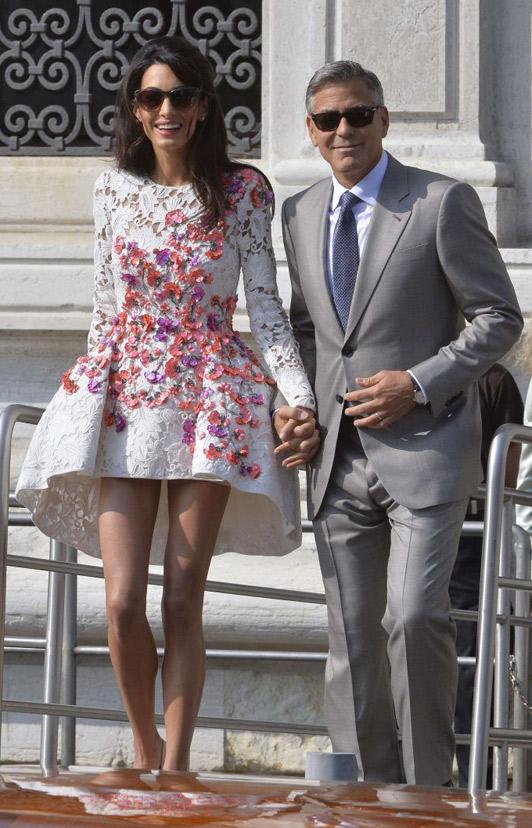 amal afpgetty 3054338a George Clooney & Amal Alamuddin prvý krát ako manželia