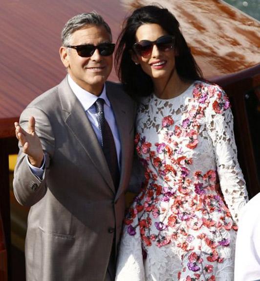amal george afpget 3054354a George Clooney & Amal Alamuddin prvý krát ako manželia