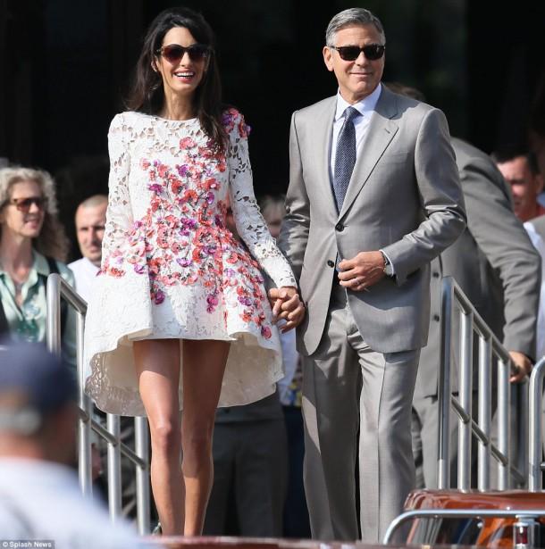 article 2772608 21BE57B400000578 132 964x972 610x615 George Clooney & Amal Alamuddin prvý krát ako manželia