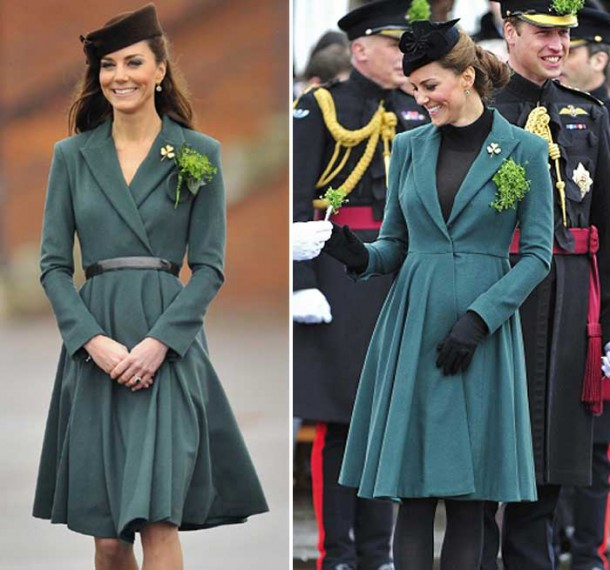 b id 367705 kate middleton baby patricks day coat 610x570 Tehotenský šatník Kate Middleton