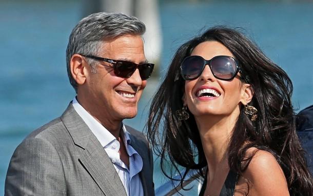 la et mg george clooney wedding amal alamuddin venice arrivals preview 20140926 610x382 George Clooney & Amal Alamuddin prvý krát ako manželia