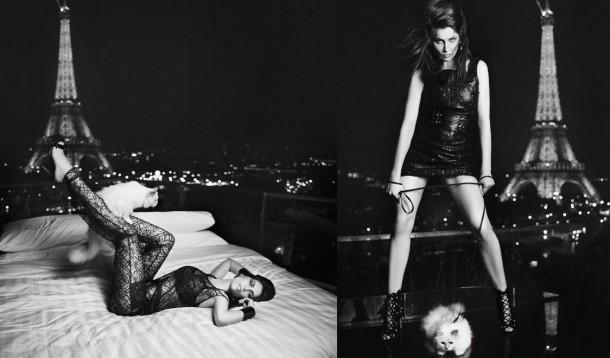v magazine september 2012 laetitia casta and choupette by karl lagerfeld 610x358 Zlá cica, Choupette Lagerfeld, útočí