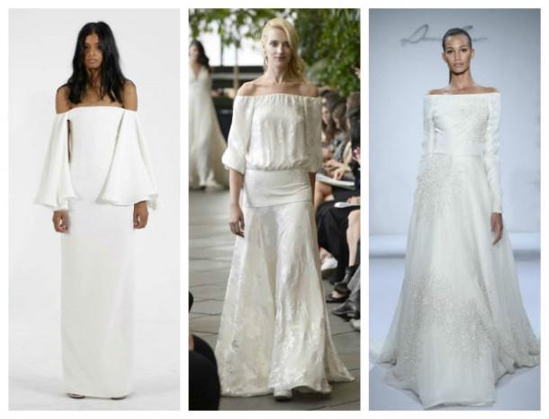 off shoulder 610x465 10 trendov v svadobných šatách