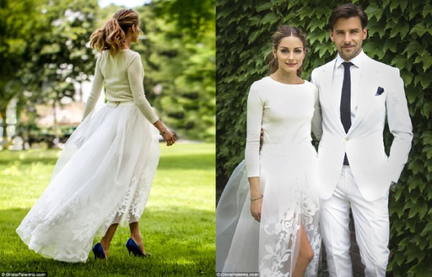 olivia palermo carolina herrera wedding dress monolo blahnik shoes buterboom 610x392 10 trendov v svadobných šatách