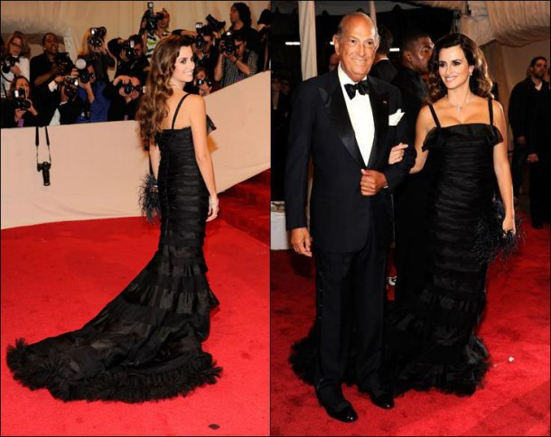 penelope cruz oscar dela renta met gala 2011 610x484 Najmagickejšie momenty Oscara de la Rentu