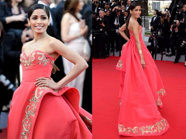 pinto oscar de la renta dress cannes 2014 red carpet 610x457 Najmagickejšie momenty Oscara de la Rentu