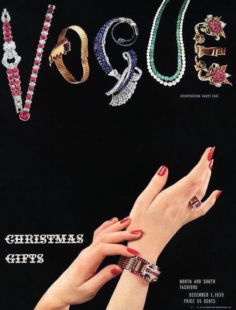 Vogue Dec 1939 To najkrajšie z vianočných módnych editorálov