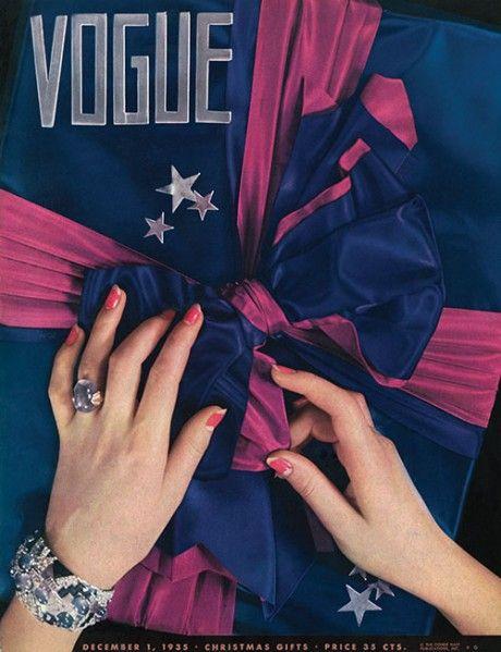 Vogue december 1935 To najkrajšie z vianočných módnych editorálov