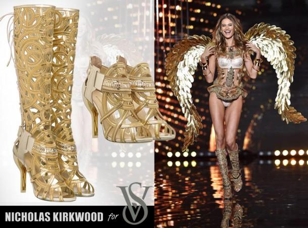 02 nicholas kirkwood for victorias secret fashion show 2014 london 610x452 Najšokujúcejšie topánky roku 2014