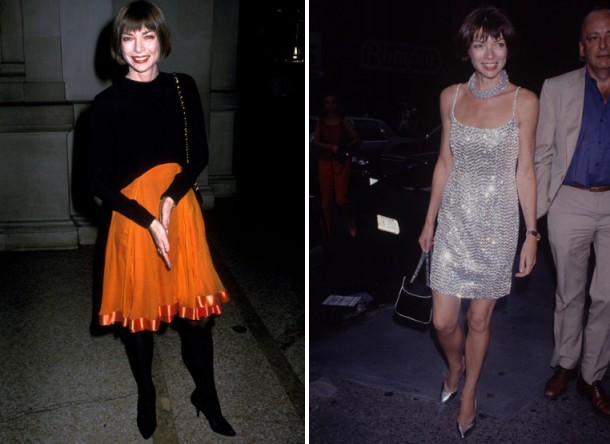 1988 orangeskirt 3121491a 610x444 Módny flashback: Anna Wintour