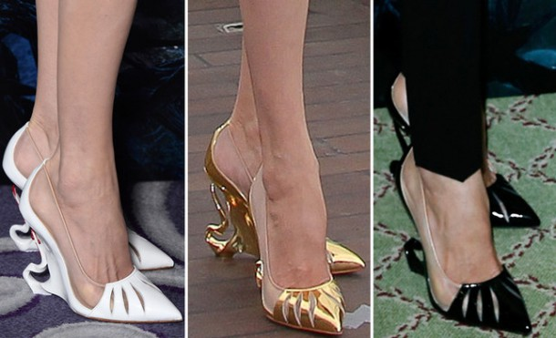 538e49b1e9af2ed83964638a angelina jolie maleficent shoes 610x371 Najšokujúcejšie topánky roku 2014