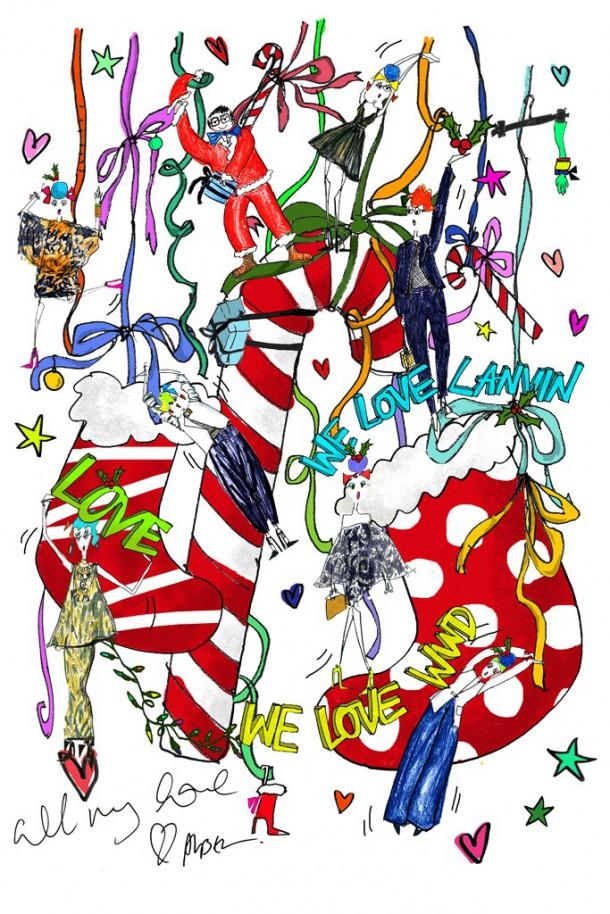 lanvin 610x914 Vianočné pančuchy podľa návrhárov