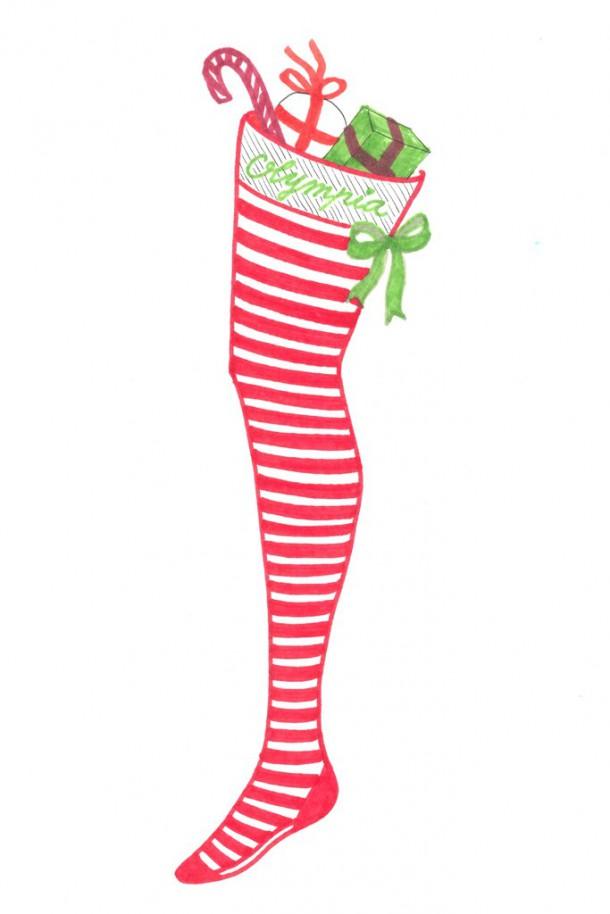 olympia le tan 610x914 Vianočné pančuchy podľa návrhárov