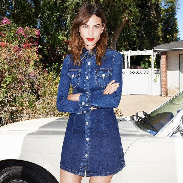 Alexa Chung AG Jeans Collection 610x610 Trend sezóny: Denimové šaty