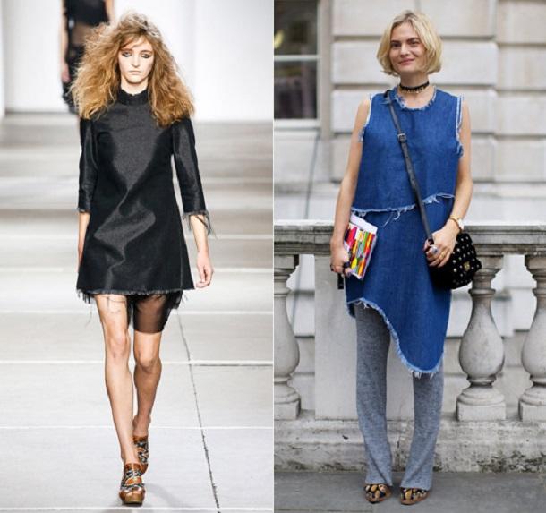 frayed 3169375a Trend sezóny: Denimové šaty